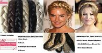 Extra Thick Chunky Braided Hairband Plaited Synthetic Elasticated Hair Band