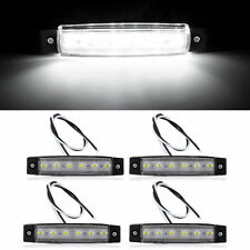 4x White 6LED Side Marker Clearence Indicator Light For Truck Trailer Lorry 12V