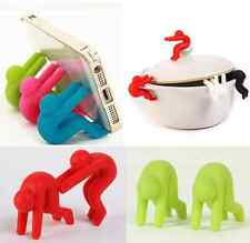 2pc Small People Pot Spill-proof Cute Heat Resistant Lid Kitchen Tool Holder hot