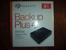 Seagate Backup Plus Desktop 3TB External Hard Drive HDD USB 3.0 PC/MAC NEW!