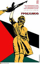 Political poster.Arab Polisario Fighter.Muslim Cold War Socialism History.me32