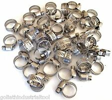 """50 GOLIATH INDUSTRIAL STAINLESS STEEL HOSE CLAMPS 3/8"""" - 5/8"""" SSHC58 10MM-16MM"""