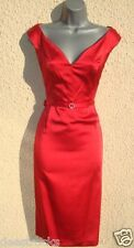 Size 24 Pencil Wiggle Cocktail Party Evening Dress Red  *Valentines* US 20 EU 52