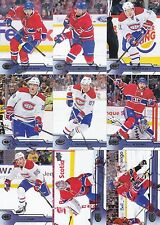 Montreal Canadiens 2016-17 Upper Deck Complete Team Set 12 Different Cards