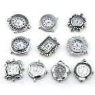 Wholesale 10X Mixed Silver Plated Antique Quartz Watch Face For Beading 151464