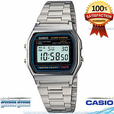 Casio A158WA-1 Men's Classic Stainless Steel Water Resistant Digital Watch