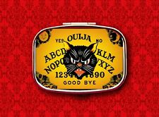 OUIJA BOARD CAT PSYCHIC GAME VINTAGE HALLOWEEN 2 STASH BOX METAL PILL MINT CASE