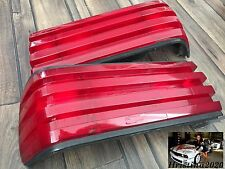Mercedes Benz W126 OEM Rear Tail Lights  Set TINTED All Red  BRABUS STYLE