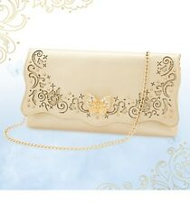 Disney Store CINDERELLA Gold purse Clutch Bag BUTTERFLY CLASP Live Film NWT