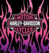 Harley Davidson pink flames Officially SUPER SOFT WARM THROW BLANKET