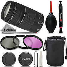 Canon EF 75-300mm f/4-5.6 III Telephoto Zoom - Must Have Kit For Canon EOS