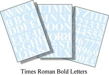 96 x1 inch(25mm) TIMES ROMAN LETTERS AND NUMBERS VINYL WHITE SELF ADHESIVE DIY