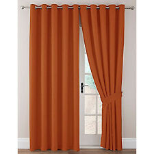 Imogen Basket Weave Ring top eyelet heading curtains available in 8 colours