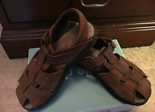 BROWN LEATHER STRIDE RITE BOYS SANDALS US 11.5M w/box great shape!