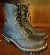 Women FRYE Factory Distress Lace up Brown Boots Sz 10 M Style 77533 *Barely Used