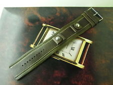 GENUINE FOSSIL JR-1044 20MM BROWN MILITARY STYLE LEATHER WATCH STRAP