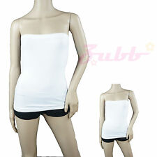 Stretch Seamless Tube Top SLIMMING Strapless Sleeveless Tee Layering Basic Shirt