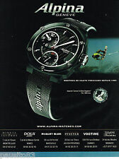PUBLICITE ADVERTISING 065  2007  La montre  AVALANCHE  REGULATOR  ALPINA