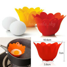 Flower Silicone Egg Poacher Cook Pods Kitchen Cookware Tool Poached Baking Cup
