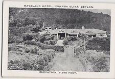 Maysland Hotel Nuwara Eliya Ceylon Vintage Postcard 137a