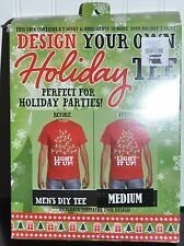 Crazy Christmas TEE T-Shirt, Design Your Own  Decorate Yourself KIT MED