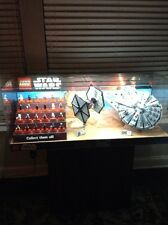 Lego Star Wars Store Display Force Awakens Millennium Falcon & Tie Fighter