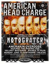 AMERICAN HEAD CHARGE/MOTOGRATER/RAINES TO RUIN 2016 PORTLAND CONCERT TOUR POSTER