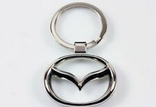 MAZDA KEYRING METAL STYLISH CHROME KEY RING FOB 323 3 5 RX8 RX7 7 GTI