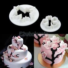 2xSakura Fondant Cake Decorating Sugarcraft Plunger Cookie Cutter Paste Mold