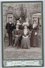CABINET CARD Photograph Victorian Wedding Group by Jordan of Knighton