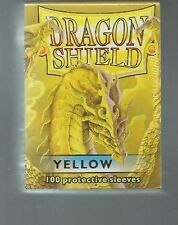 (100) Dragon Shield Yellow Protective Sleeves Sealed Magic MTG FREE SHIPPING