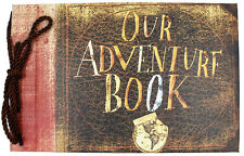 Pixar Up,Our Adventure Book,80 Pages Kraft Paper DIY Photo Album,Scrapbook