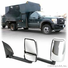SuperDuty 99-14 Utility Service Truck Manual Side View Chrome Long Mirrors 102""