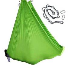 Green Nylon Tricot Aerial Yoga Swing Hammock Silk COMPELTE SET for Inversions