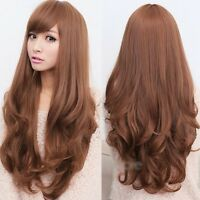 Sexy Women Fashion Long Wavy Curly Hair Cosplay Costume Party Full Wig/Wigs NEW