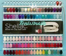 CND Shellac Salon NAIL TIP COLOR CHART PALETTE 102 Sample Colors NEW Limited Ed