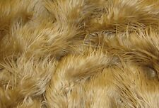 Faux Fur Mongolian Camel  60 Inch Wide Fabric BTY Coat Vest Throws Blankets