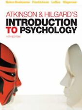 Atkinson & Hilgard's Introduction to Psychology, 15/E Paperback 9781844807284