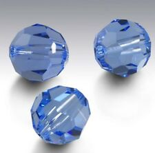 29 Pieces Swarovski Element 5000 faceted 8mm Round Beads Crystal Lt Sapphire