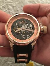 Invicta Russian Diver Mechanical Rose Tone S.S. Black Dial Watch #80120 NIB
