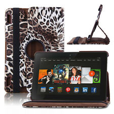 360 Rotating PU Leather Smart Case Cover For Amazon 2013 Kindle Fire HDX 8.9""