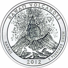 2012 5 oz America The Beautiful ATB Hawaii Volcanoes Silver Coin .999 Fine