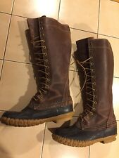 "Men's Vintage LL Bean Maine Hunting 16"" Tall Leather Shoe Boots Sz 6 Antique"