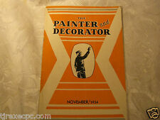 The Painter and Decorator Nov 1934 magazine 1930's