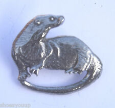 Water Otter Handcrafted in Solid Pewter In The UK