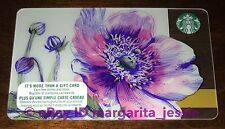 "Starbucks Canada Gift Card ""Spring Flower 2017"" Purple NO VALUE NEW #6134"