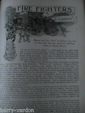 Firemen Fire Brigade Firefighters Rare Old Edwardian Illustrated Article 1902