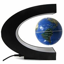 Koiiko C Shape Rotating Magnetic Levitation Levitation Floating World Map Globe