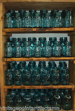 One (1) Vintage Blue Ball Perfect Mason QUART Jar w/ Zinc Lid - Weddings! Crafts