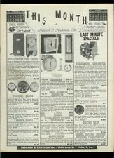 Rare 1952 Herbach & Rademan Monthly Electronics Catalog Gadgets Parts & More